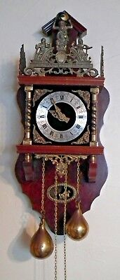 Large Vintage Dutch Zaanne Zaandam Wall Clock