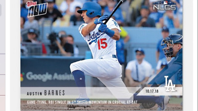 2018 Topps Now Nlcs Card Game #5 Dodgers Austin Barnes #901 Game Tying Rbi Hit