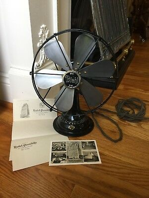Antique Diehl Electric Fan Piccadilly Hotel Ny