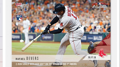 2018 Topps Now Alcs Rc Card Game #4 Red Sox Rafael Devers #904 2-Run Single 1St
