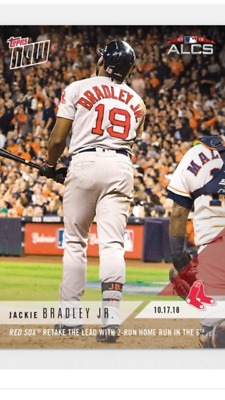2018 Topps Now Alcs Card Game #4 Red Sox Jackie Bradley Jr #907 2-Run Hr In 6Th