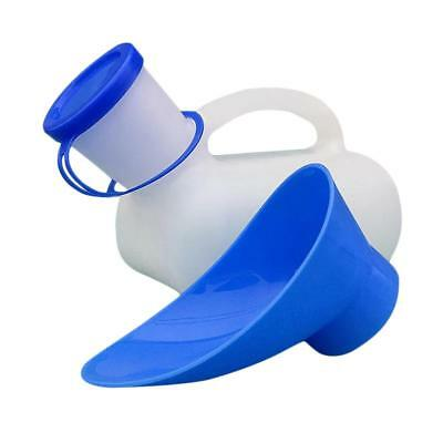 1000ML Men Women Urinal Bottle Lid Toilet Car Travel Bed Urine Pot Hospital Use