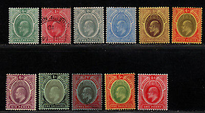 $Southern Nigeria Sc#32//44 used+M/H/F-VF, part set, ex. 42-43, 41 crease