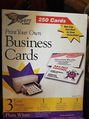 P C Papers By Ampad print your own business cards 250