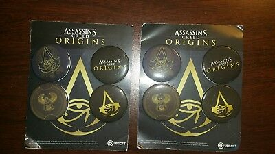 8 Assassin's Creed Origins Buttons 2 sets of 4