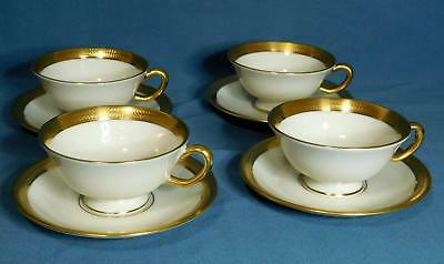 Set of 4 Lenox Lowell Footed Cup / Cups and Saucers   Mint!  P-67