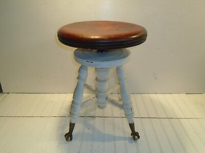 Vintage Piano Stool Late 1800s Antique