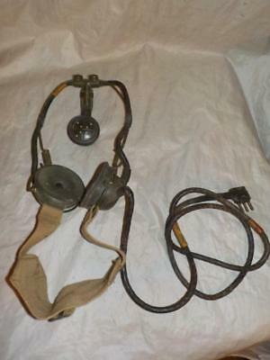 Pair Of Vintage Wwii Or Later British Military Radio Receiver Headphones