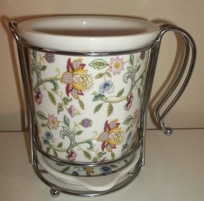 Minton Haddon Hall Rare Cutlery Drainer Display Pot First Quality