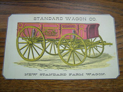 The Standard Wagon Co. 1882 Advertising Trade Card...Cincinnati Ohio