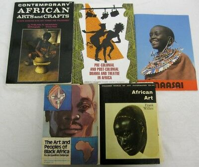 African Art Drama Theatre History 5 Book Lot Contemporary Craft People Lifestyle