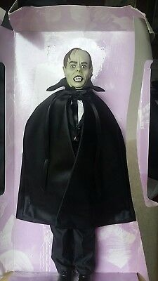 Dracula doll figure greenish tinted skin about 11 and 3/4 in tall