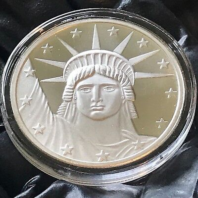 Statue of Liberty Tribute 1 oz .999 Silver .39mm Art Medal Round Freedom