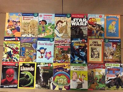 Lot of 60 Ready to-I Can Read-Step Reading RL Level 2 Learn Read Kid Books L62