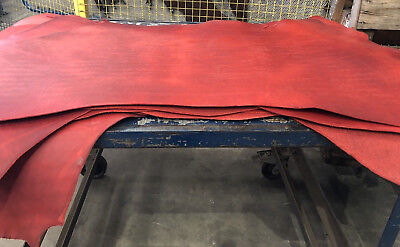 Greasy Oily Chrome Red Hide Double Shoulders