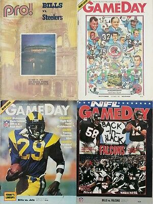 Lot of Four (4) Vintage Buffalo Bills Game Programs 1972 1984 1992