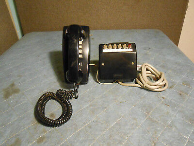 Western Electric 6040G Wall Key Set and 2554BMP Phone Set in Black