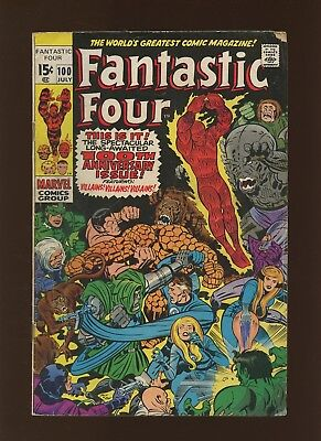 Fantastic Four 100 VG 4.0 * 1 Book * Long Journey Home by Stan Lee & Jack Kirby!