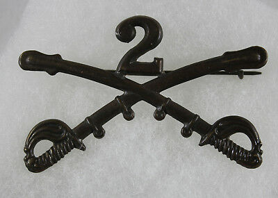 US Indian Wars Army 2nd Cavalry Enlisted Mans Cap Badge
