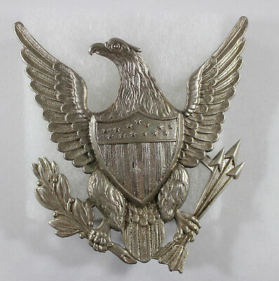 US Indian Wars Union Army Spike Helmet Eagle Military Officers Front Plate.