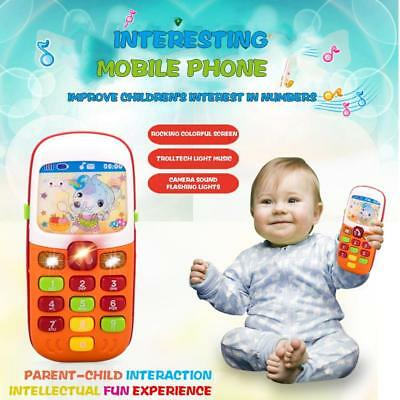 Baby Kids Musical Phone Smartphone Toddler Sound Hearing Educate Learning Toy UK