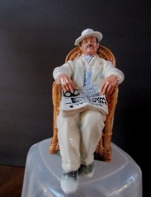 """Royal Doulton Figuriine Taking Things Easy HN 2680  6-3/4"""" tall  Mint Condition"""