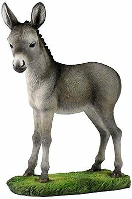 "7"" Baby Donkey Wildlife Statue Animal Decor Figure Sculpture"