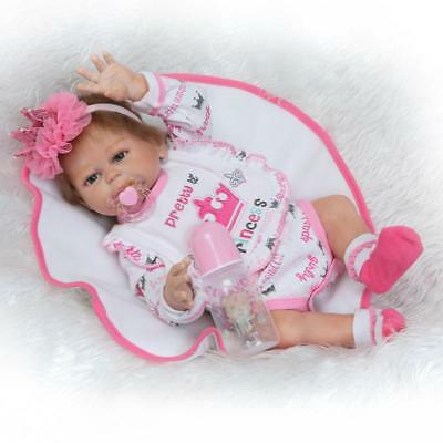 "Full Silicone Reborn Baby Doll That Look Real Anatomically Correct 20"" Washable"
