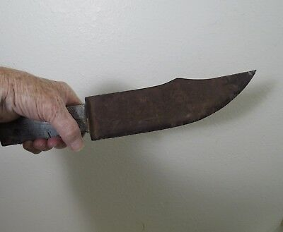 """Very Old Hand Forged 14"""" Bowie Knife With Handle"""