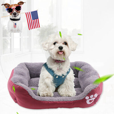 Pet Bed Cushion Dog Cat Kennel Winter Warmer Mat Soft Pad Nest for Crate House