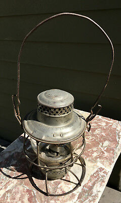 Antique Adams Westlake Adlake  Railroad Kerosene Lamp Lantern