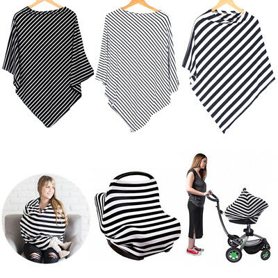 5in1 Nursing Scarf Cover Up Apron for Breastfeeding  Baby Car Seat Canopy Cover
