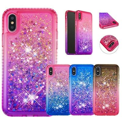 Bling Glitter Sparkle Liquid Quicksand Case Cover For iPhone XS Max 7 Plus 6S 8