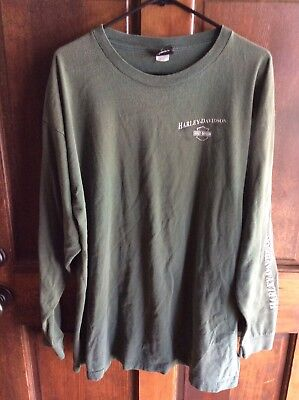 Harley Davidson Motorcycles Long Sleeve T Shirt New Bern, N C 2XL