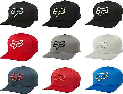 new concept 14020 aae18 Fox Racing Lithotype Flexfit Hat - Mens Lid Cap Curved Bill MX MTB  Motocross ATV