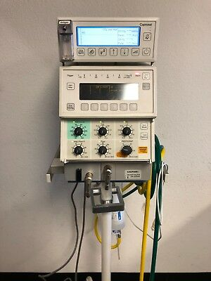 Drager Babylog 8000 Ventilator with Capnosat on Rolling stand