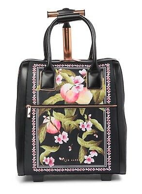 5381441be New TED BAKER Riorio Peach Rolling Two Wheel Travel Carry On Suitcase Bag