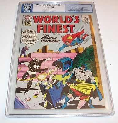 World's Finest #126 - Graded NM- 9.2 - 1962 Silver Age DC issue  (Lex Luthor)