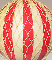 Yellow Jules Verne Balloon - Hot Air Balloon Model - Features Hand-Knotted Netti