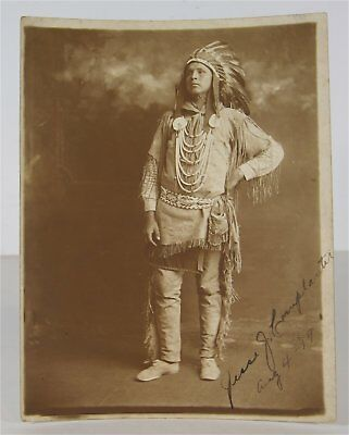 1919 Native American Seneca Indian Chief J. Cornplanter Signed And Dated Photo