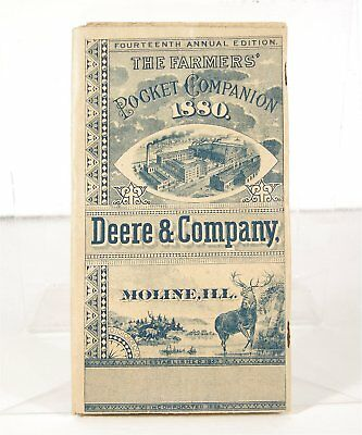 1880 John Deere Illustrated Catalog / Farmers Pocket Companion Great Condition