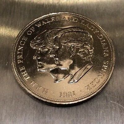 Lady Diana & Prince Of Wales 1981 Wedding Coin  B-17-18