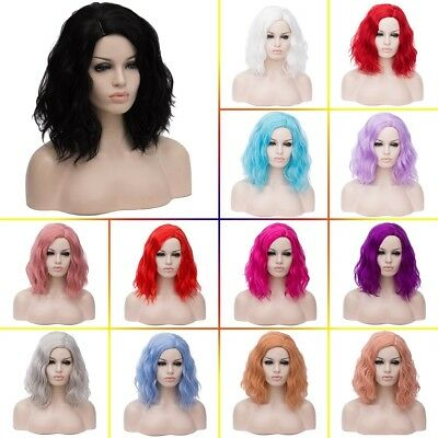 Women Girl Medium Natural Wavy Curly Hair Daily Cosplay Party Full Wig / Wig Cap