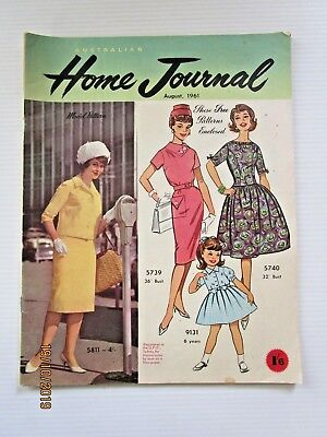 Australian Home Journal August 1961 - includes patterns  - FREE POSTAGE