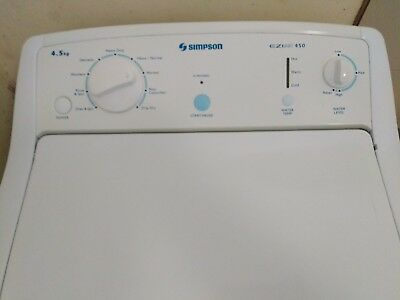 Simpson 4.5Lt Top Load Washing Machine sound working condition, clean and tidy