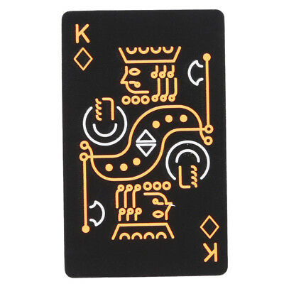 Black Paper Poker Playing Creative Student Dormitory Game Luminous Poker LT