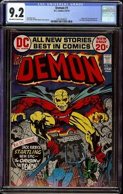 Demon # 1 CGC 9.2 OW/W (Marvel, 1972) 1st appearance of the Demon