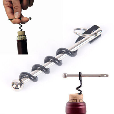 Outdoor EDC Red Wine Bottle Opener Keyring Tool Camping Survival Equipment TooUQ