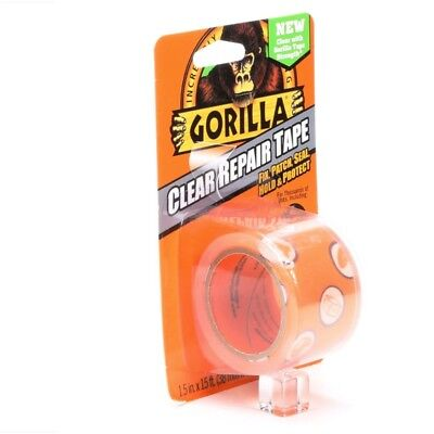 Gorilla Clear Repair Duct Tape Heavy Duty Adhesive Flexible Water Resistant