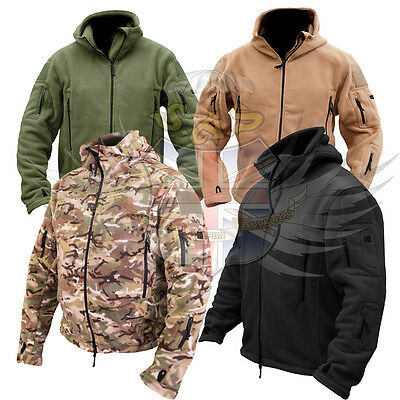 NEW KOMBAT UK RECON TACTICAL FLEECE HODDIE,BTP,TAN,BLACK,GREEN S to XXL,THERMAL